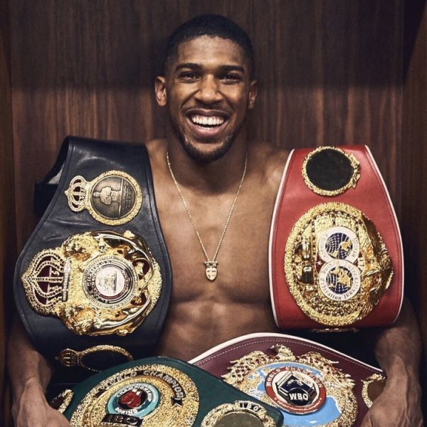 Anthony Joshua Belts Square